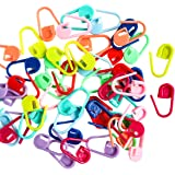 Knitting and Crochet Stitch Marker - Pack of 50 Small Plastic Locking Stitch Markers - Ideal for Crocheting and knitting handmade accessories.
