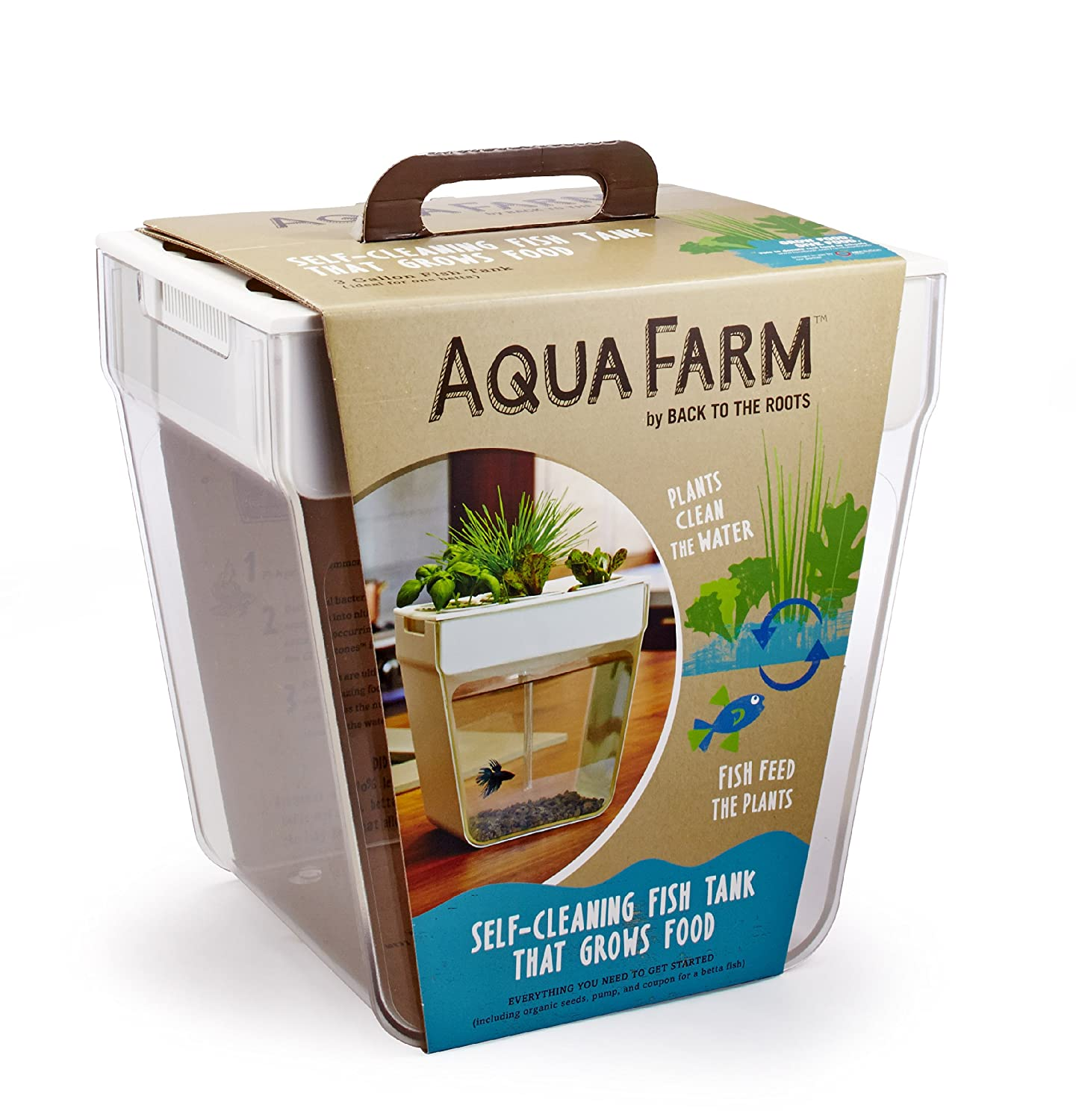 Self Cleaning Fish Tank Garden Back To The Roots Water Garden Amazoncouk Pet Supplies