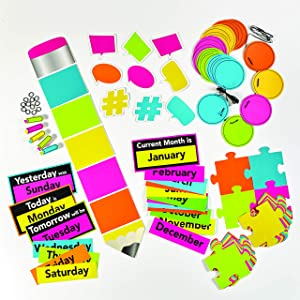 Astrobrights Classroom Décor Bundle, Assortment of Colorful Classroom Decorations, 9 Products Per Bundle (91615)