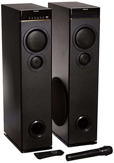 speakers in amazon. philips spa9080b multimedia tower speakers (black) in amazon
