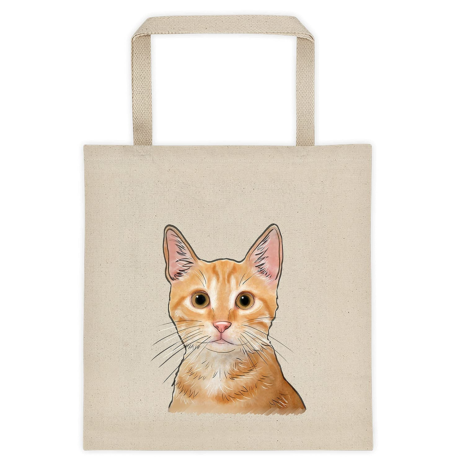 Custom Printed Photo Canvas Tote Using Your Cat/'s Photo