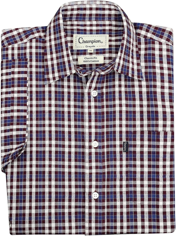 Walker and Hawkes Mens Short Sleeved 100/% Cotton Country Check Shirt