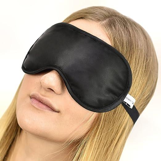 286 opinioni per 100% Seta Mascherina per dormire 100% Silk Sleep Eye Mask, colore: Nero