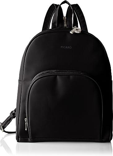 Rucksack Damen Anti Diebstahl Tasche Nylon Medium Medium, Schwarz Schwarz