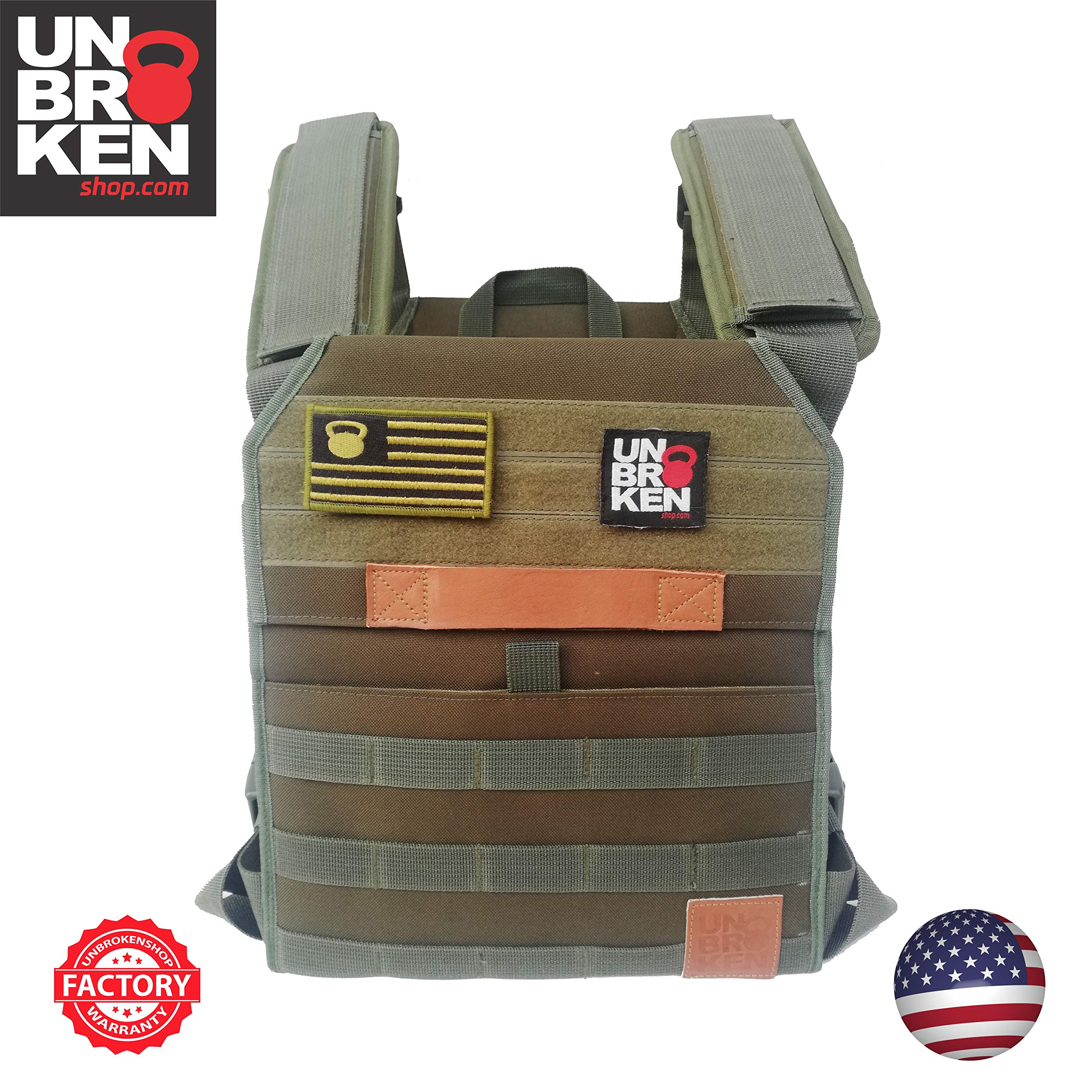 Plate Carrier Vest up to 20lbs Gymnastic or Rope climbs.Chaleco Colette Perfect for Crossfit Unbrokenshop.com Weight Vest for WOD