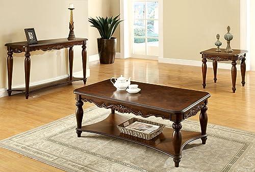 Furniture of America 3-Piece Trenton Table Set