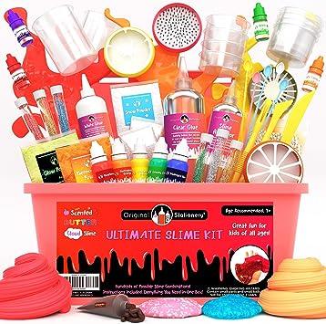 Oferta amazon: Original Stationery Kit de Slime para Elaboración DIY con Complementos Slime Unicornio, Fluffy, Glitter, Purpurina, Nube, Mantequilla, Espuma y Más para Niñas y Niños Niñas