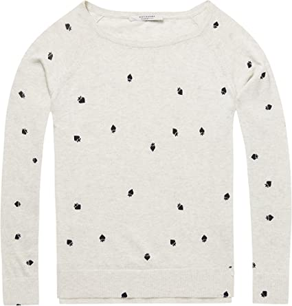 Scotch & Soda Long Sleeve Pull with Various Allover Prints suéter para Mujer