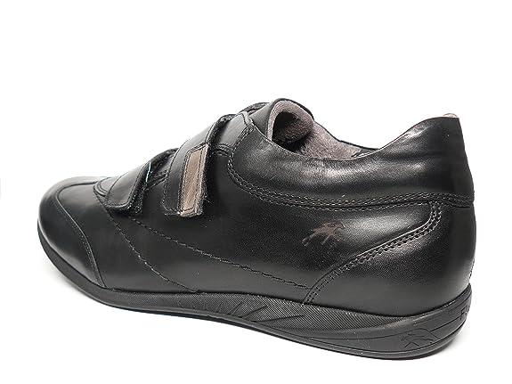 Zapatos hombre FLUCHOS - Cierre velcro en piel - Disponible en colores Negro y Marrón - 8486 - 75 y 30N (44, marrón)