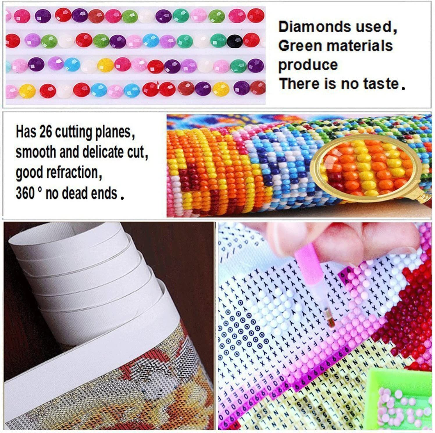 LX-100XFQS-15.7x11.8in DIY 5D Diamond Painting by Number Kits Painting Cross Stitch Full Drill Crystal Rhinestone Embroidery Pictures Arts Craft for Home Wall Decor Gift