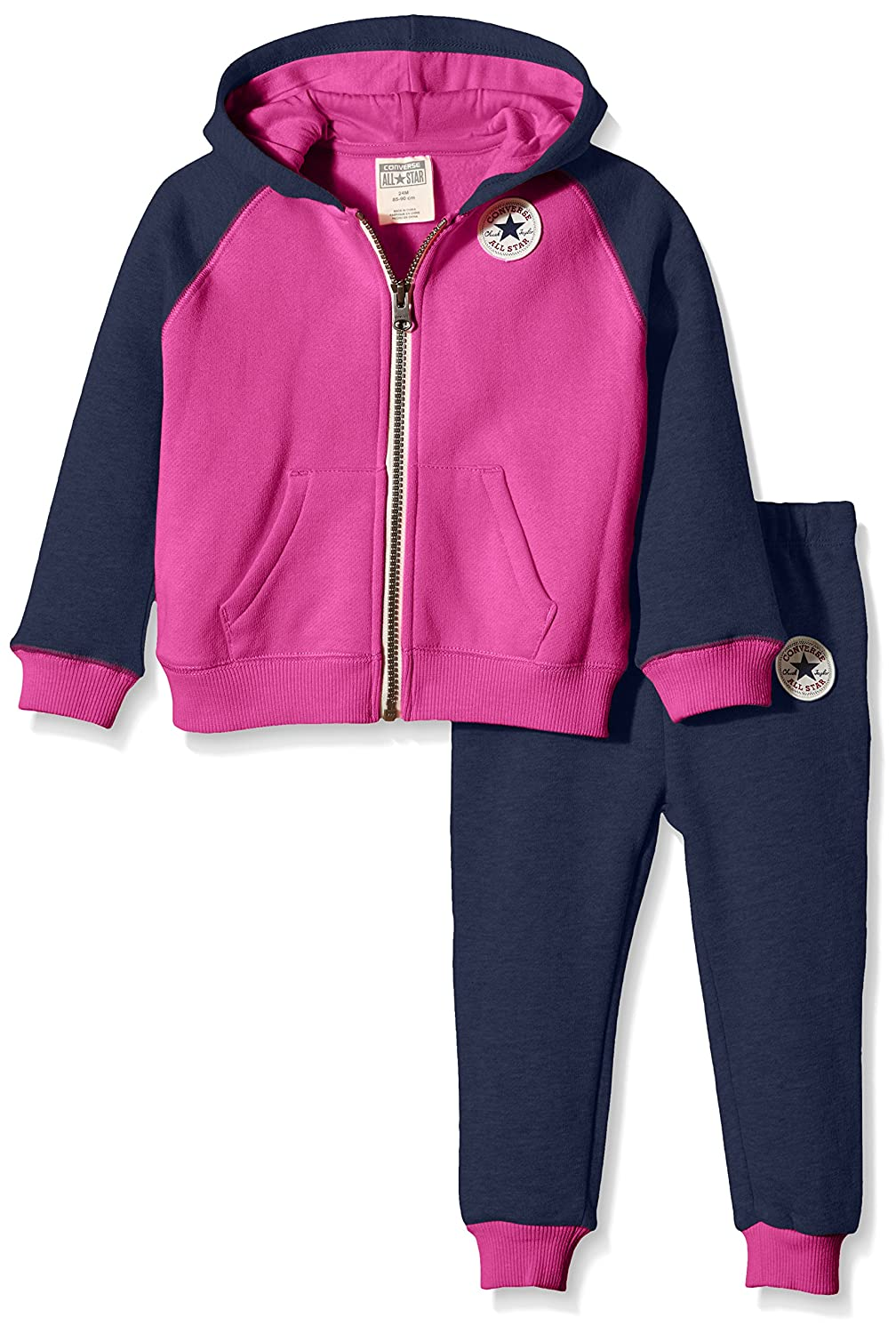 baby pink converse tracksuit