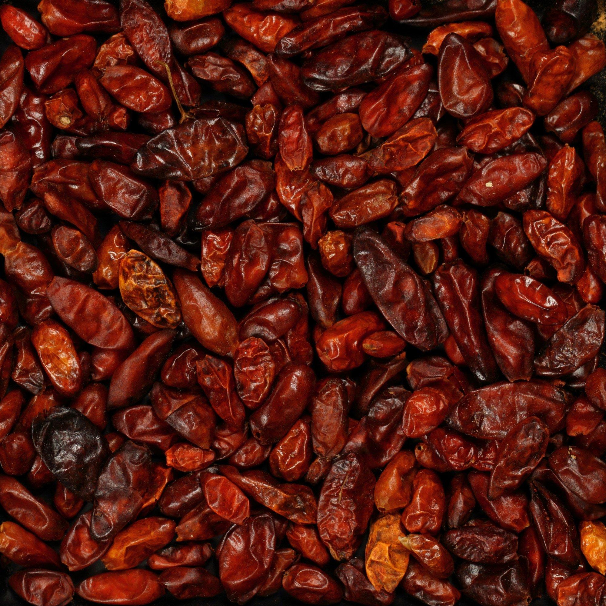 The Spice Lab No. 5161 - Wild Picked De-Stemmed Pequin Chiles - Kosher Gluten-Free Non-GMO All Natural Spice - 4 oz Resealable Bag