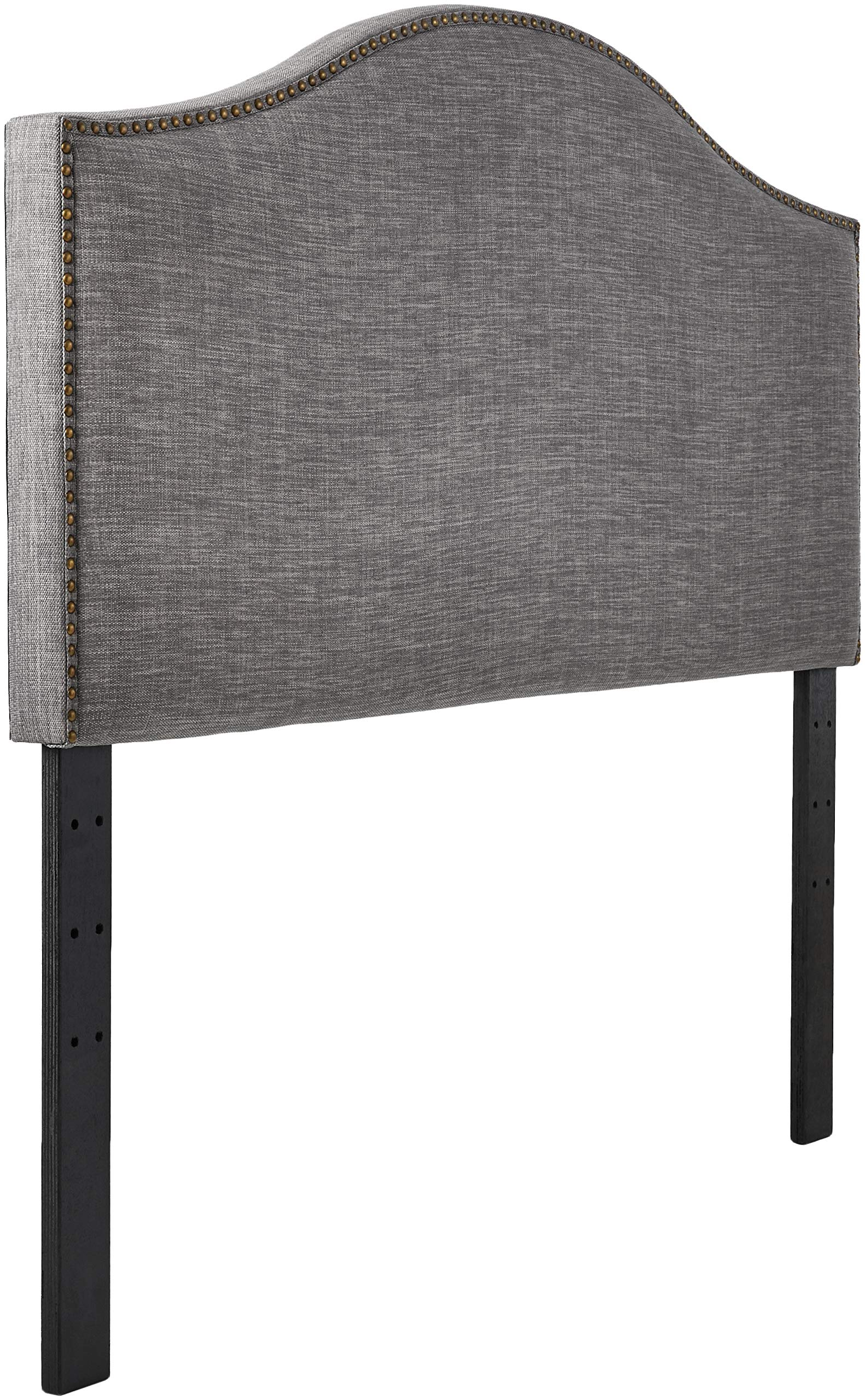 Ravenna Home Haraden Modern Curved-Top King Headboard, 82''W, Grey by Ravenna Home