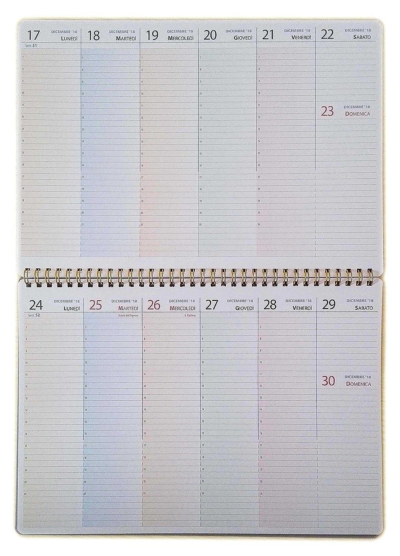 Planning settimanale da tavolo CON DATE 2019 - A4 30x21cm. - Planner tipome.com