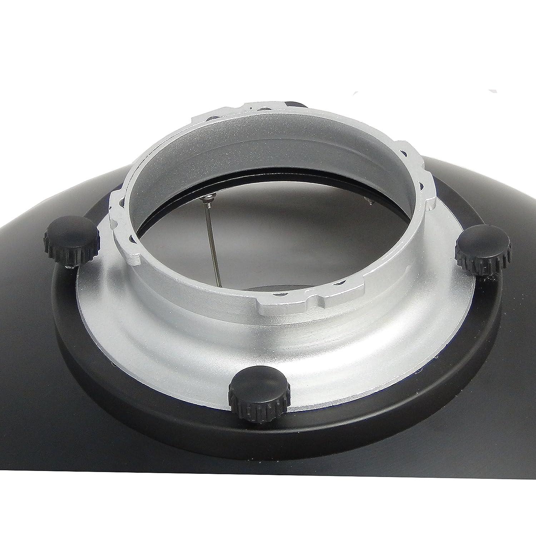 Beauty Dish DynaSun S40-MULT 40cm Plato de Belleza Blanco/Plateado para Multiblitz Big con Rejilla y Panel difusor para Foto y Video de Estudio: Amazon.es: ...