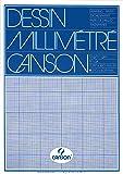 Canson Dibujo Canson milimetrado - Bloc  de 50 hojas, A3 - 29.7 x 42 cm