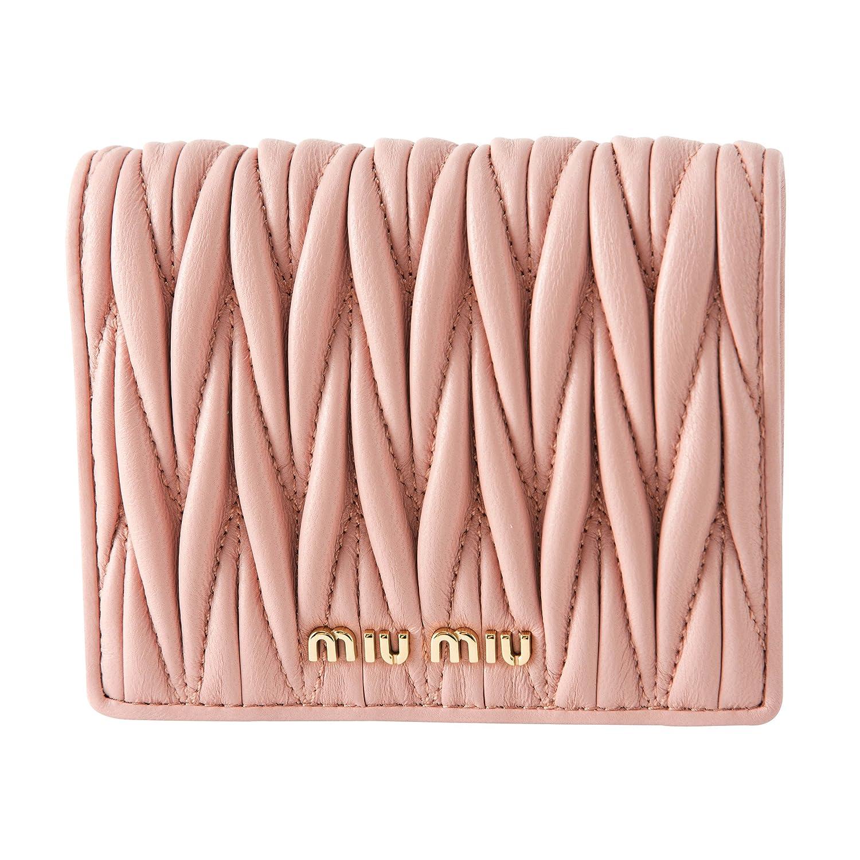 ミュウミュウ(MIU MIU) 2つ折り財布 5MV204 N88 F0615 マテラッセ ピンク [並行輸入品] B07DCHDKBR