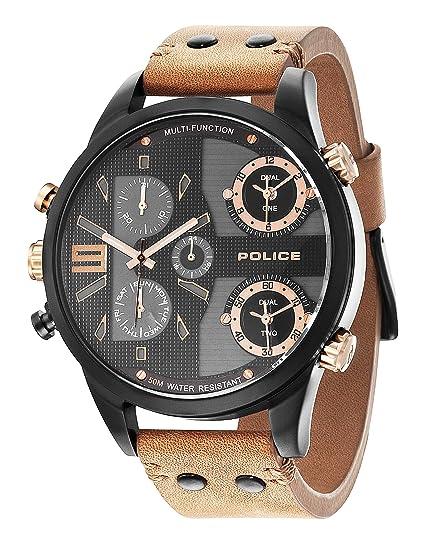 1fb2eea41766 Police Reloj de caballero P14374JSB-02  Police  Amazon.es  Relojes