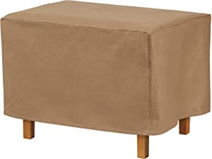 Duck Covers Essential Water-Resistant 52 Inch Rectangular Ottoman/Side Table Cover