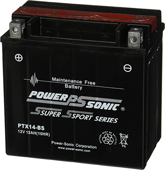 DTX14-BS PTX14-BS Replaces YTX14-BS BATTERY-Triumph Trophy 900
