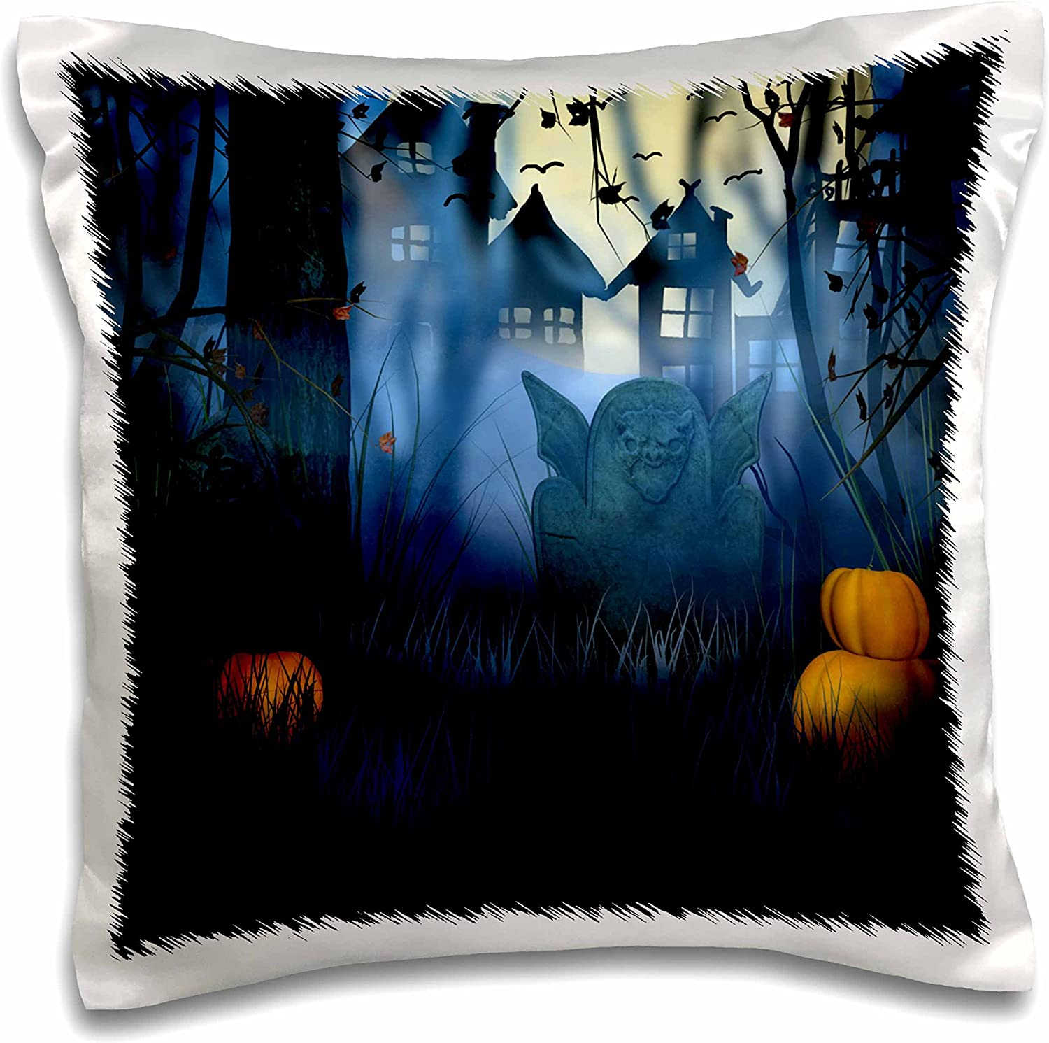 3dRose pc_216823_1 Cute Thanksgiving Bear with a Barrel of Fall Food Illustration Pillow Case, 16