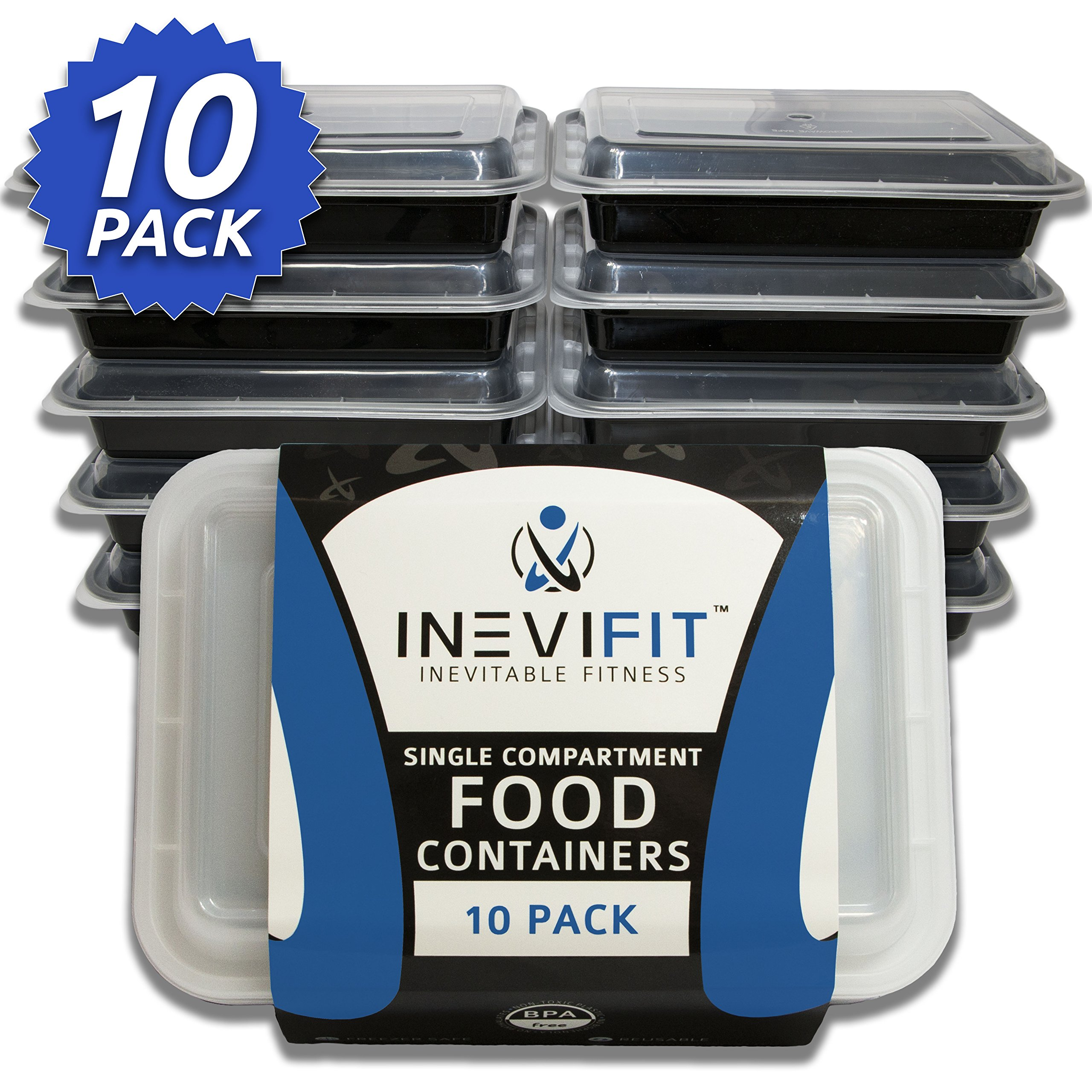 Inevifit Meal Prep Single Compartment Bpa Free Premium Food Storage Container.. 18