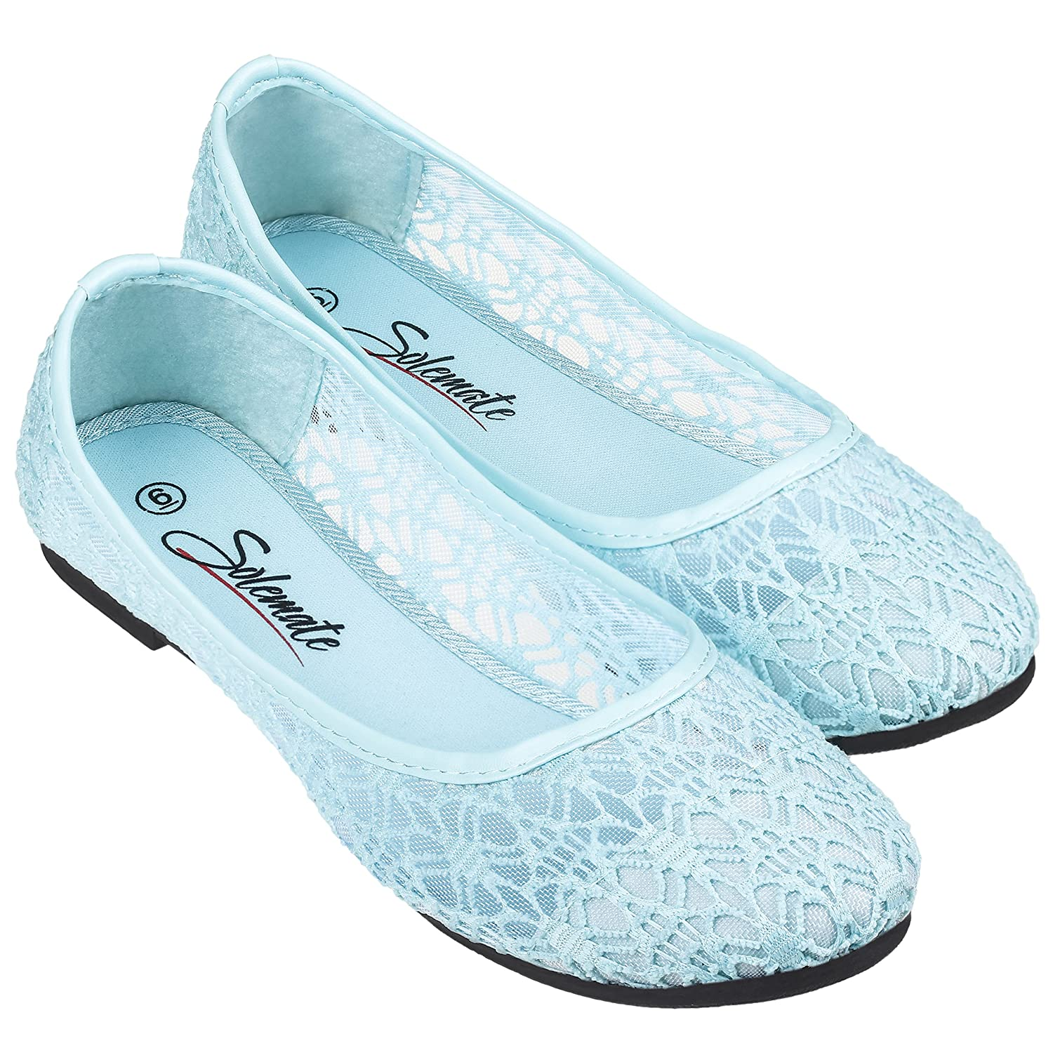 146cd342dd1ab4 Amazon.com | Women's Cute Lace Crochet Ballet Flat Comfy Slip on Loafers Ballerina  Shoes | Flats