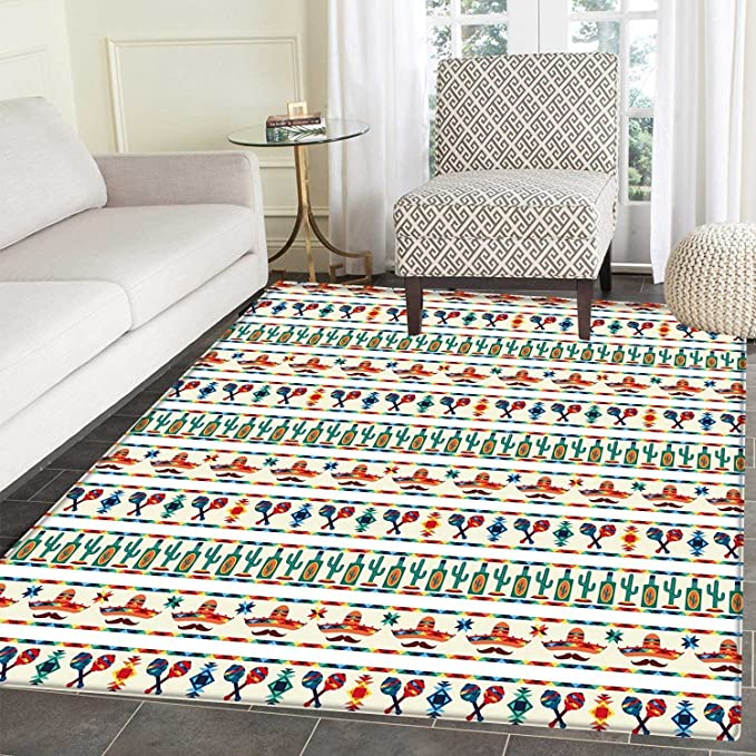 Review Mexican Area Rug Carpet
