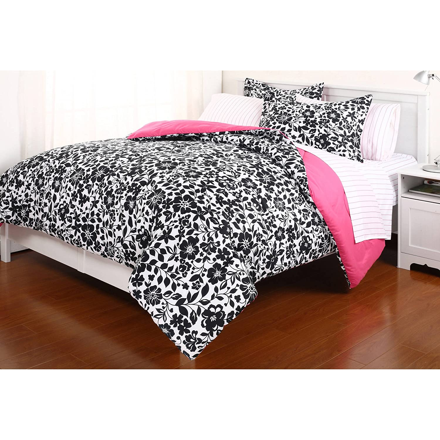 pink and black bedding sets ease bedding with style. Black Bedroom Furniture Sets. Home Design Ideas