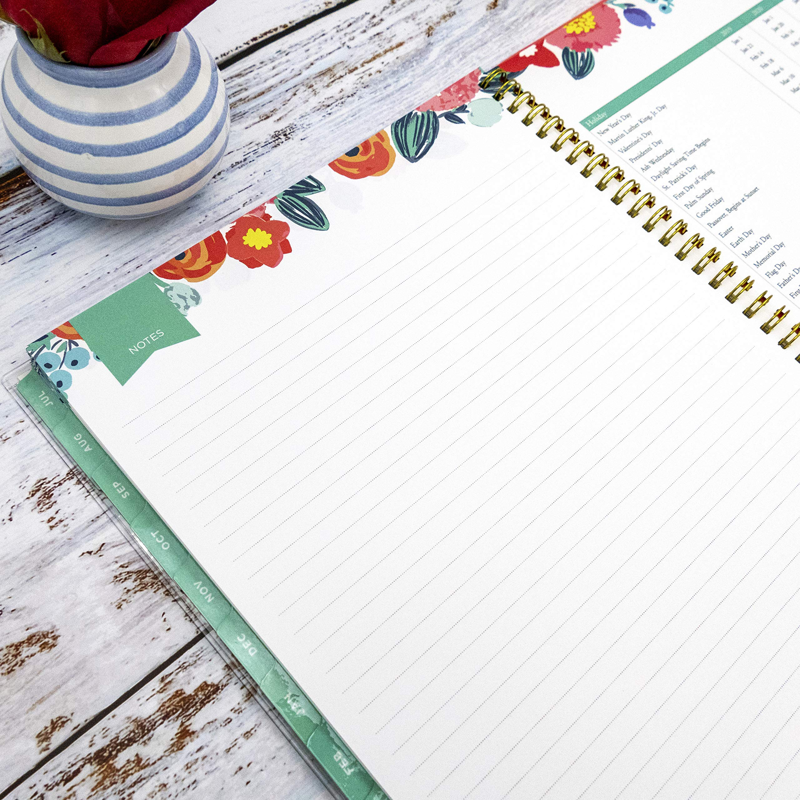 Day Designer for Blue Sky 2019-2020 Academic Year Weekly & Monthly Planner, Flexible Cover, Twin-Wire Binding, 8.5'' x 11'', Floral Sketch by Blue Sky (Image #6)
