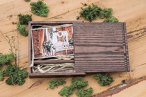 Caja de madera (sin USB), Print & USB Flash Drive Box, caja