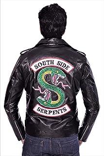 Royal Gallery Riverdale Southside Serpents Jughead Jones - Chaqueta de Piel auténtica para Hombre