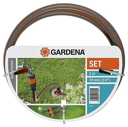 GARDENA Profi System Anschlussgarnitur: Komplett-Set zum Anschluss von Pipeline und Sprinklersystem an die Wasserversorgung,