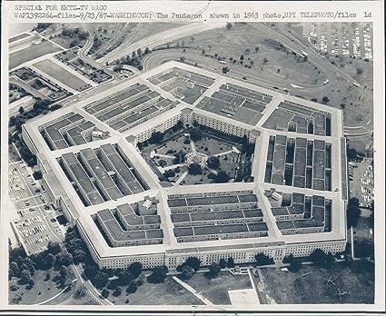 Amazon com: 1967 Photo Pentagon KWTX TV Waco Aerial Sky View