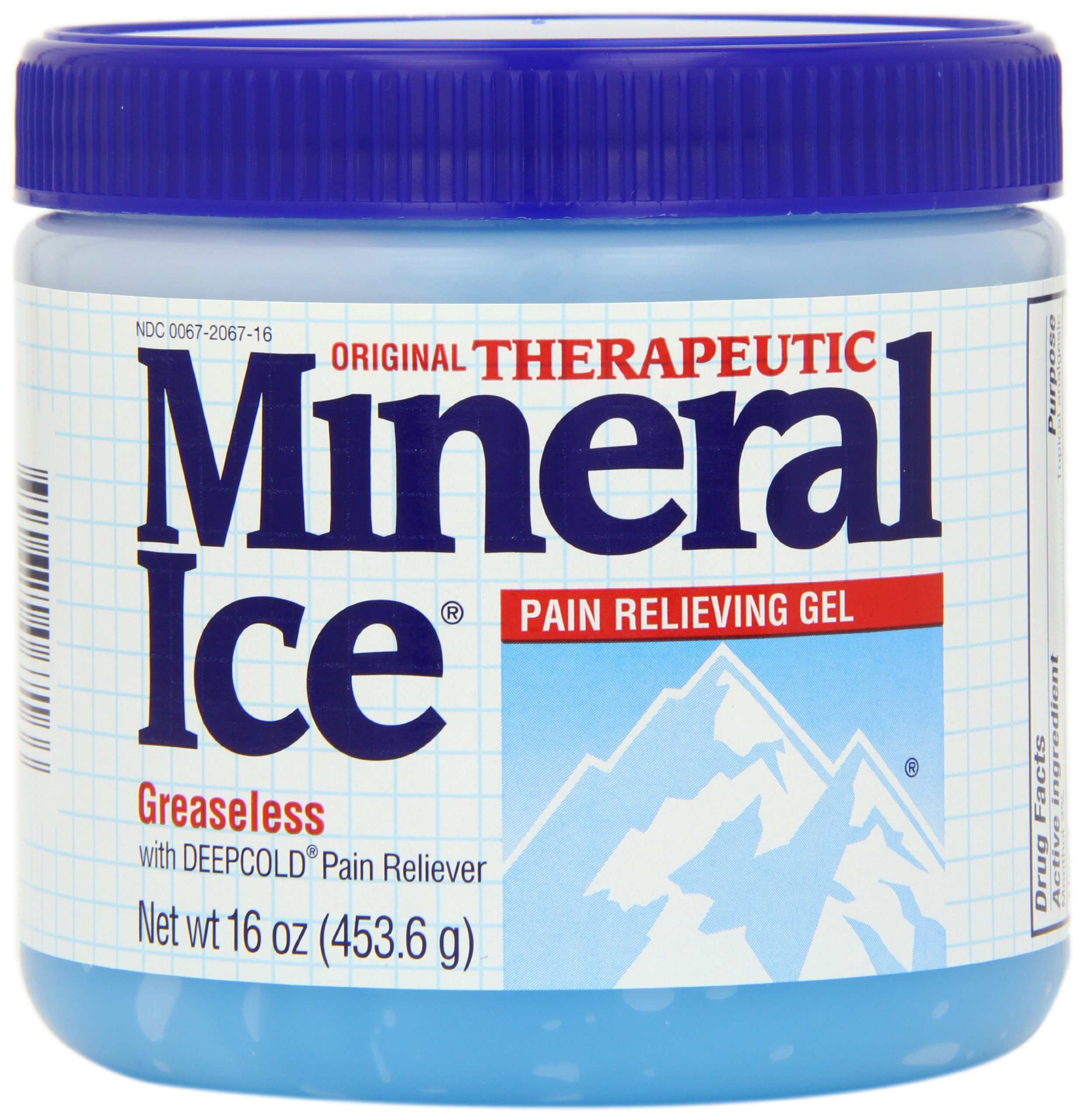 Mineral Ice Therapeutic Pain Relieving Gel, 16-Ounce Jars (Pack of 2) by Mineral Ice