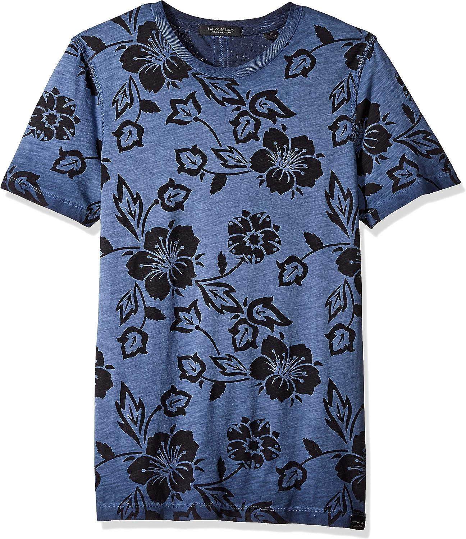 Scotch & Soda de los Hombres Camiseta Lavada al Aceite, Azul: Amazon.es: Ropa y accesorios