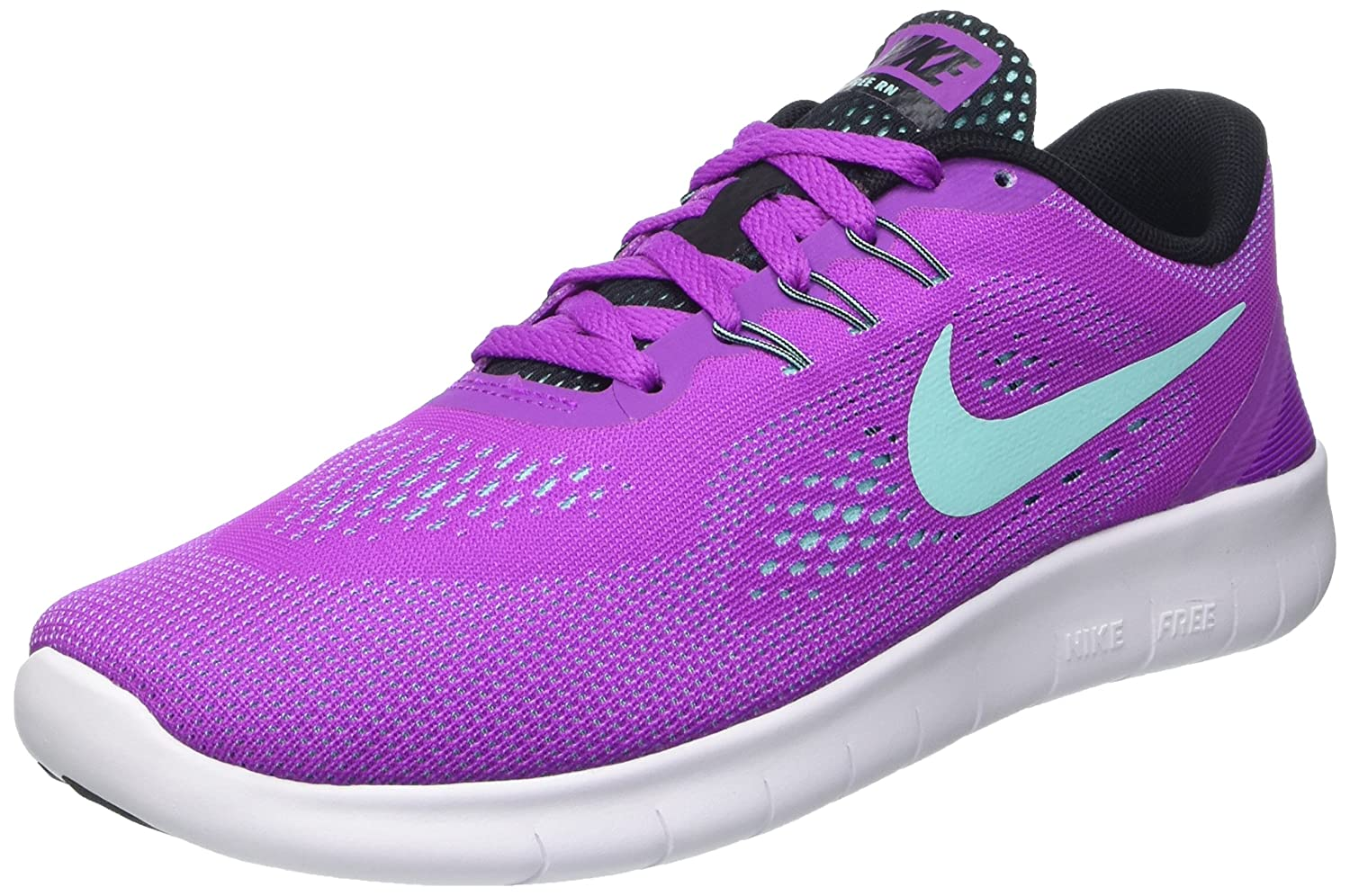 NIKE ' Free Rn (Big) B014TFXRQU Youth Size 6.5|Hyper Violet/Black/White/Hyper Turquoise