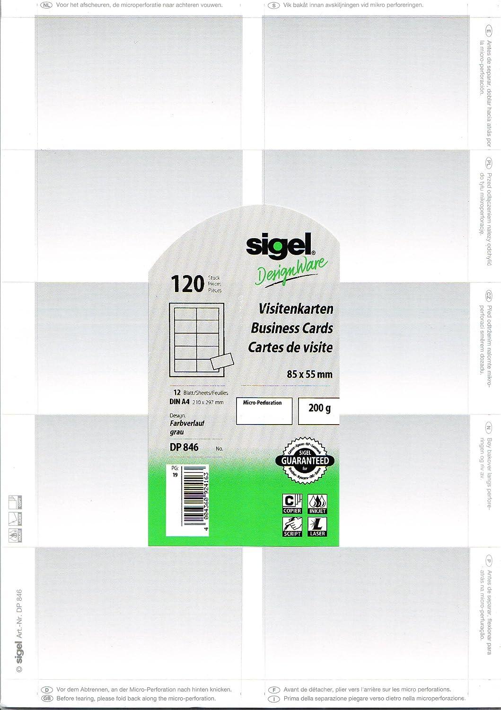 Sigel Print Sie Ihre Eigenen Visitenkarten Dp846