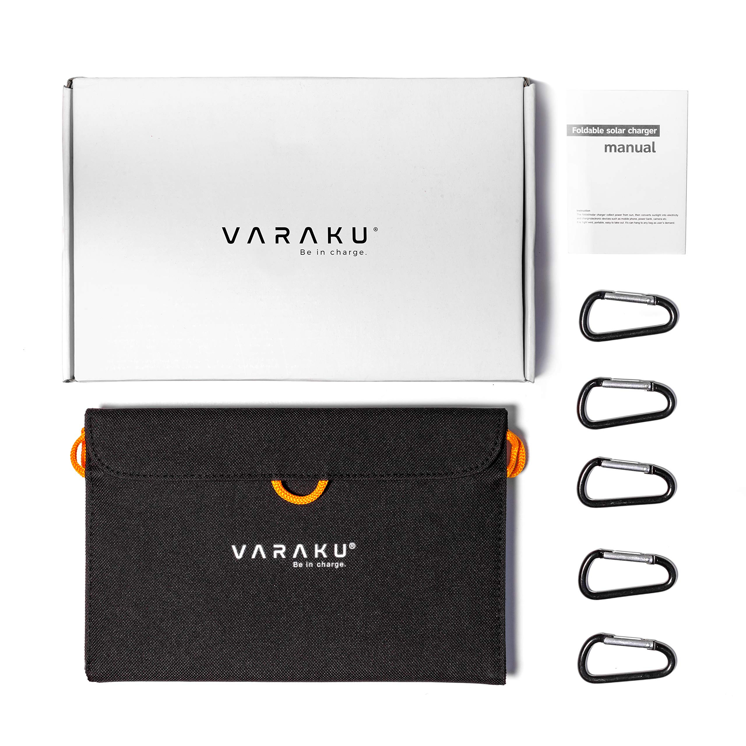 Portable Solar Charger 10W - Dual USB Solar Panel Foldable – Best Power for, iPhone, X, 8, 7, 6s, iPad, Cell Phone Android & Electronic Devices - Waterproof Sun Phone Charger for Camping & Hiking by VARAKU (Image #7)