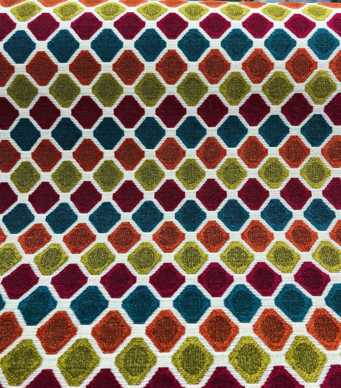 Amazon.com Evoque Candy Contemporary Geometric Upholstery Fabric ...