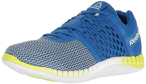 Reebok Men s Zprint Run Shoe, Awesome Blue White Solar Yellow Matte Silver 1fea287c82