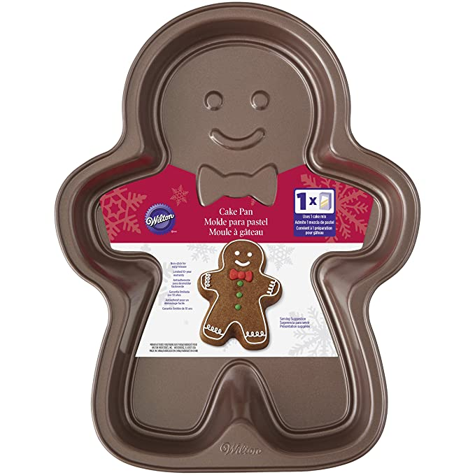Amazon.com: Wilton Cookie-Gingerbread Boy-cake pan (Gray): Kitchen & Dining