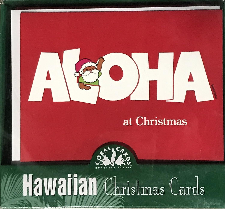 Amazon.com : Hawaiian Holiday Christmas Greeting Cards (Aloha at ...
