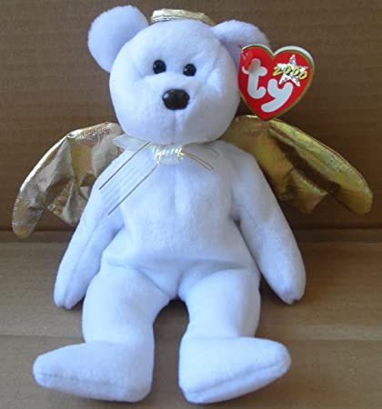 8e28a8aa50f Image Unavailable. Image not available for. Color  TY Beanie Babies Halo II  Angel Bear Plush Toy Stuffed Animal