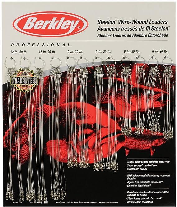 """6/"""" 30lb Berkley Steelon Wire Trace Leaders"""