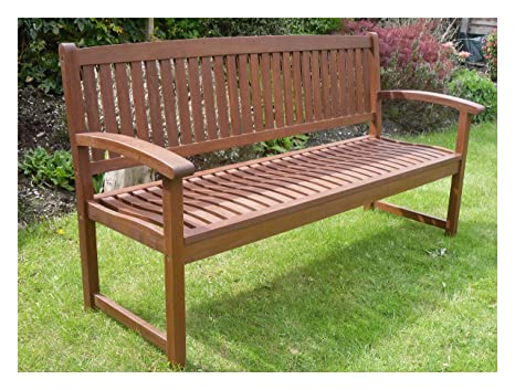 Fabulous Henley Hardwood 3 Seat Garden Bench Great Outdoor Furniture Short Links Chair Design For Home Short Linksinfo