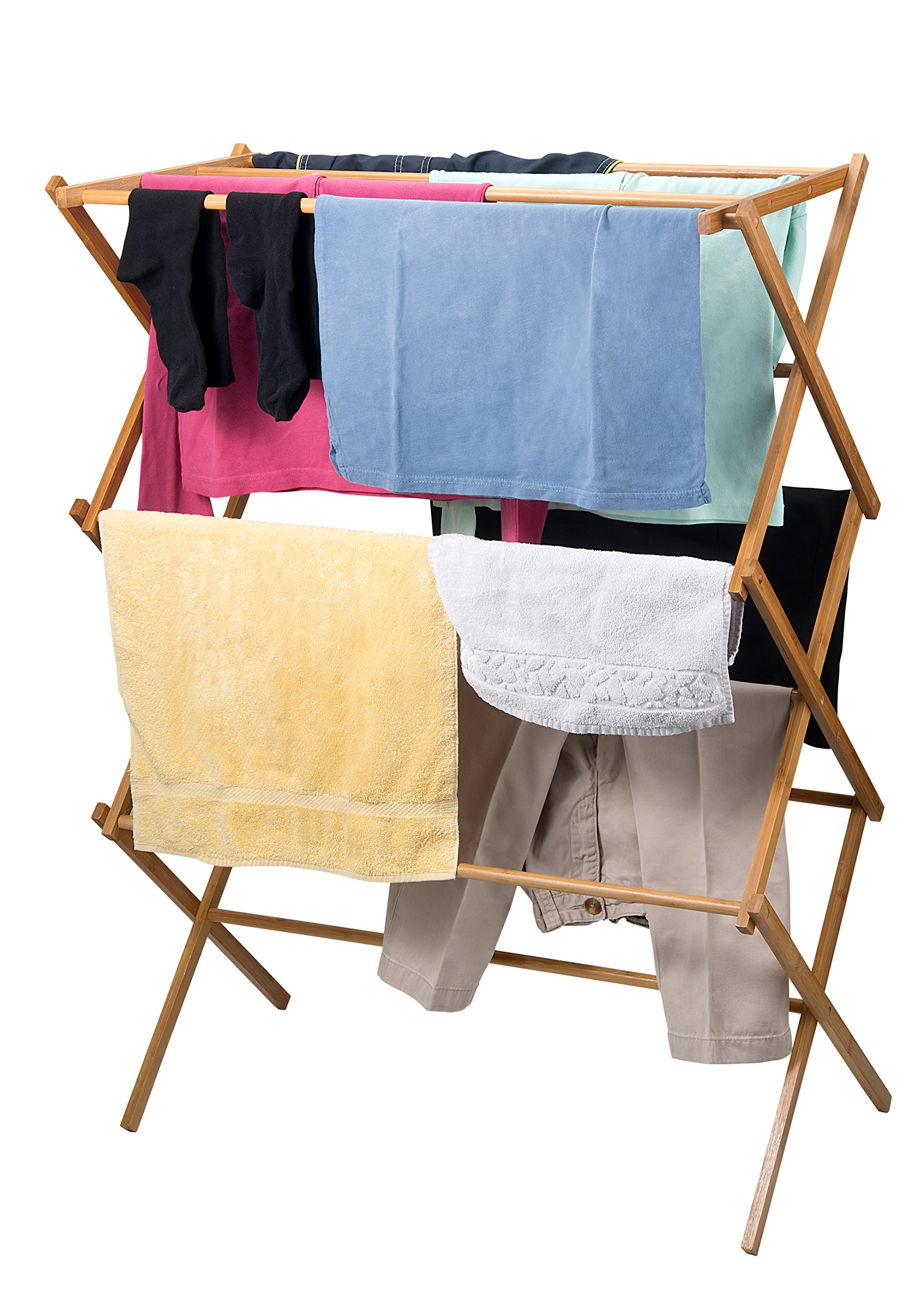 Home-it clothes drying rack - Bamboo Wooden clothes rack  - heavy duty cloth drying stand by Home-it (Image #3)