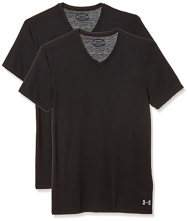 Amazon.com: Under Armour Men's Core V-Neck Undershirt – 2-Pack ...