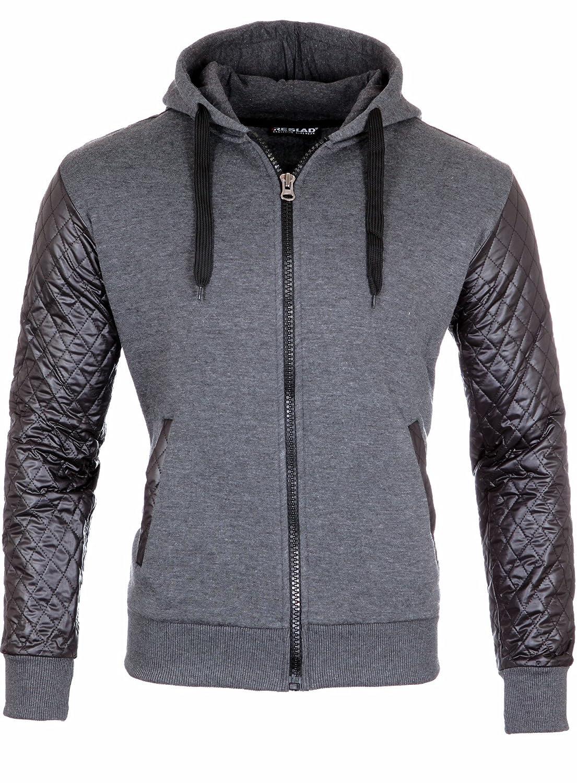 Reslad Sweatjacke RS 1152 Zip Hoody Kapuzenjacke Jacke Pullover schwarz grau
