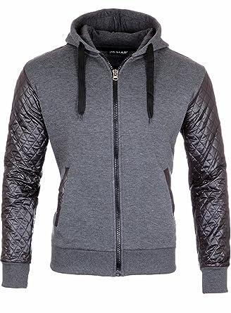 9dad167f5d617c Reslad Sweatjacke Herren Kapuzenjacke Zip Hoodie Männer mit Reißverschluss  Pullover Zipper RS-1152  Amazon.de  Bekleidung